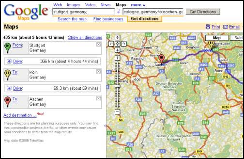 Bridget Blog Google Driving Directions Map