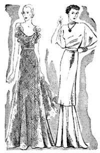 """Modelos publicados na """"Folha da Noite"""", em 15 de janeiro de 1936"""