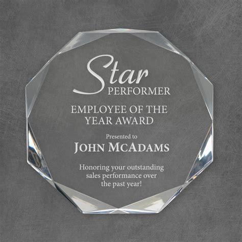 Star Performer Personalized Acrylic Award