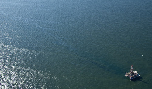 oil spill on Gulf rig