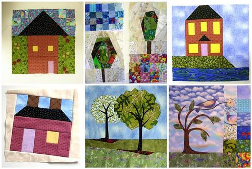 Home Sweet Home Quilt Along Update - patdenino's block's so far