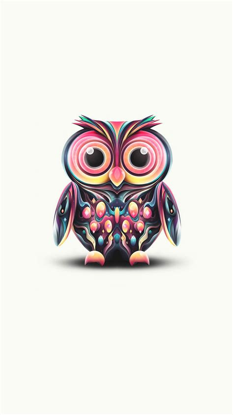 coorful minimal owl iphone wallpaper iphone wallpapers