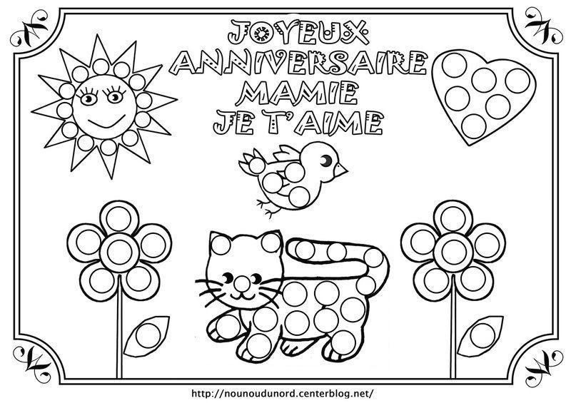 Coloriage Bon Anniversaire Mamie Colorier Les Enfants Marnfozinecom
