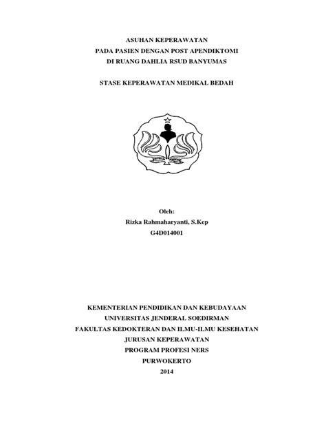 ASUHAN KEPERAWATAN APENDIKTOMI PDF