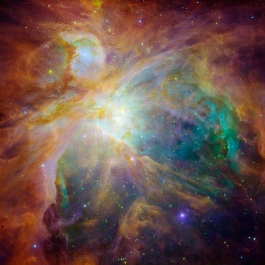 Spitzer/Hubble image of Orion nebula