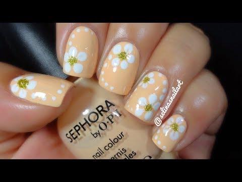 Quick & Easy Flower Nail Art Tutorial | Selina's Nail Art ...