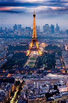 paris eiffel tower beautiful city night scenery iphone