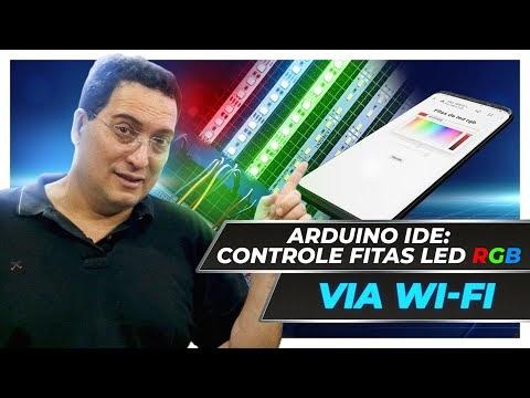 Controle de fitas de LED RGB via WiFi com ESP32