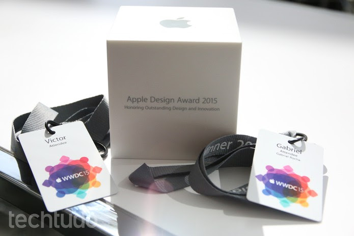 Gabriel Rocha, desenvolvedor de jump-O, venceu o Apple Design Awards na categoria Schoolarship (Foto: Fabrício Vitorino/TechTudo)