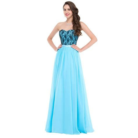 Cheap Floor length Corset Appliques Blue Long Bridesmaid