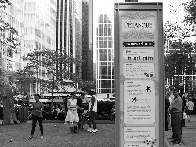 Petanque, in Bryant Park NYC