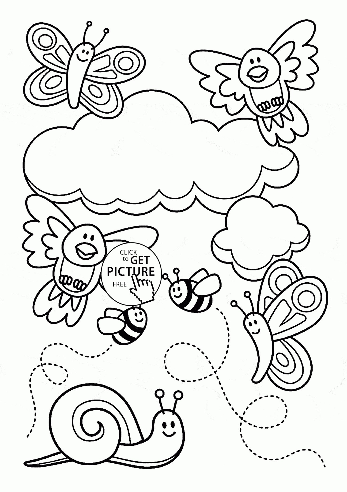 Cute Spring Coloring Pages at GetColorings.com | Free ...