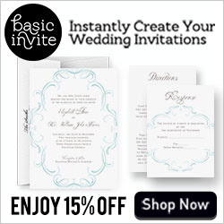 Save 15% On Your Wedding Invitations from BasicInvite