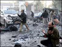 Scene from the blast