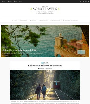 Sora Travels Blogger Templates
