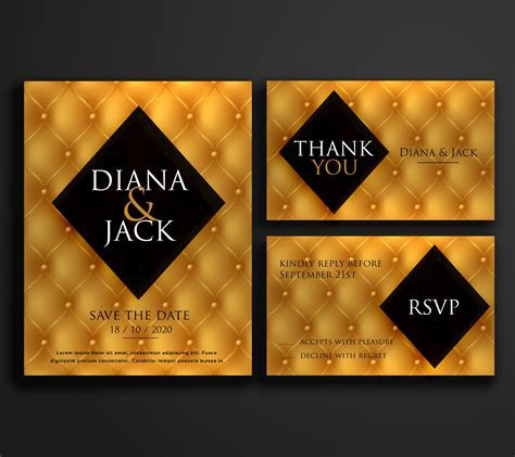 premium luxury wedding invitation card design   Download