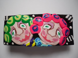 polymer clay cane faces