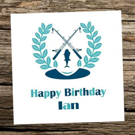 Fishing Birthday Card   Personalised   any age  40th