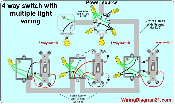 How To Wire A Light With Two Switches