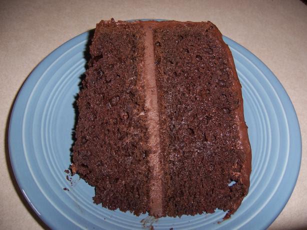 Really Easy Moist Dark Chocolate Cake Recipe - Food.com