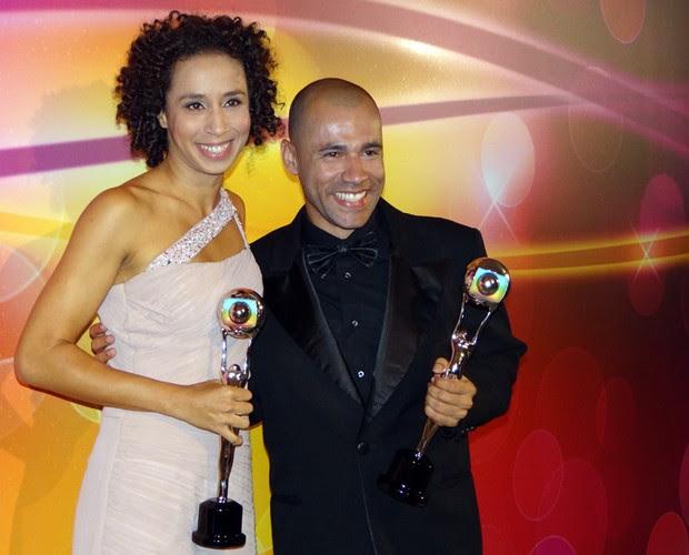 Thalita Carauta e Rodrigo Sant'anna (Foto: TV Globo / Domingão do Faustão)