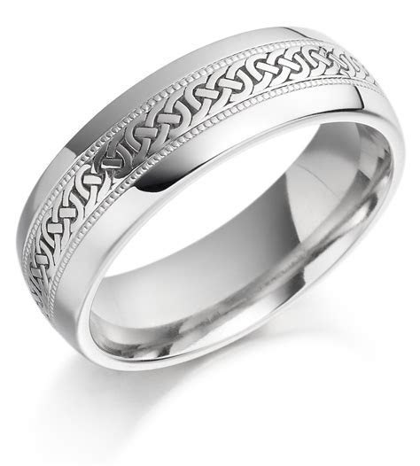 White Gold Celtic Wedding Bands   Wedding and Bridal