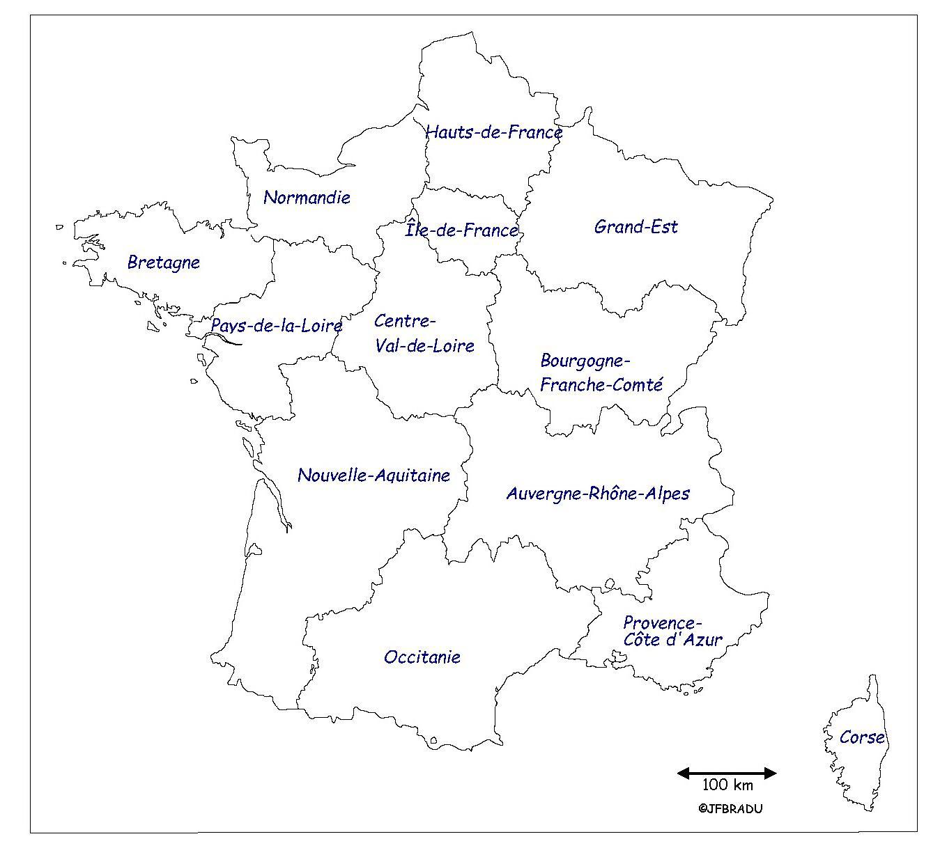 Carte De France Avec Nom Des Regions | My blog
