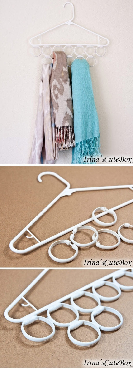 Inexpensive scarves holder idea | Women's Lounge