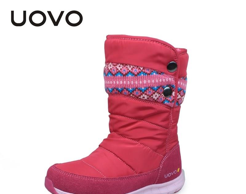573e656495 Comprar Botas De Invierno UOVO 2018 Para Niñas Marca Moda Zapatos Niños  Goma Calientes Nieve Princesa Tamaño 27 # 37 # Online Baratos | 211biblical
