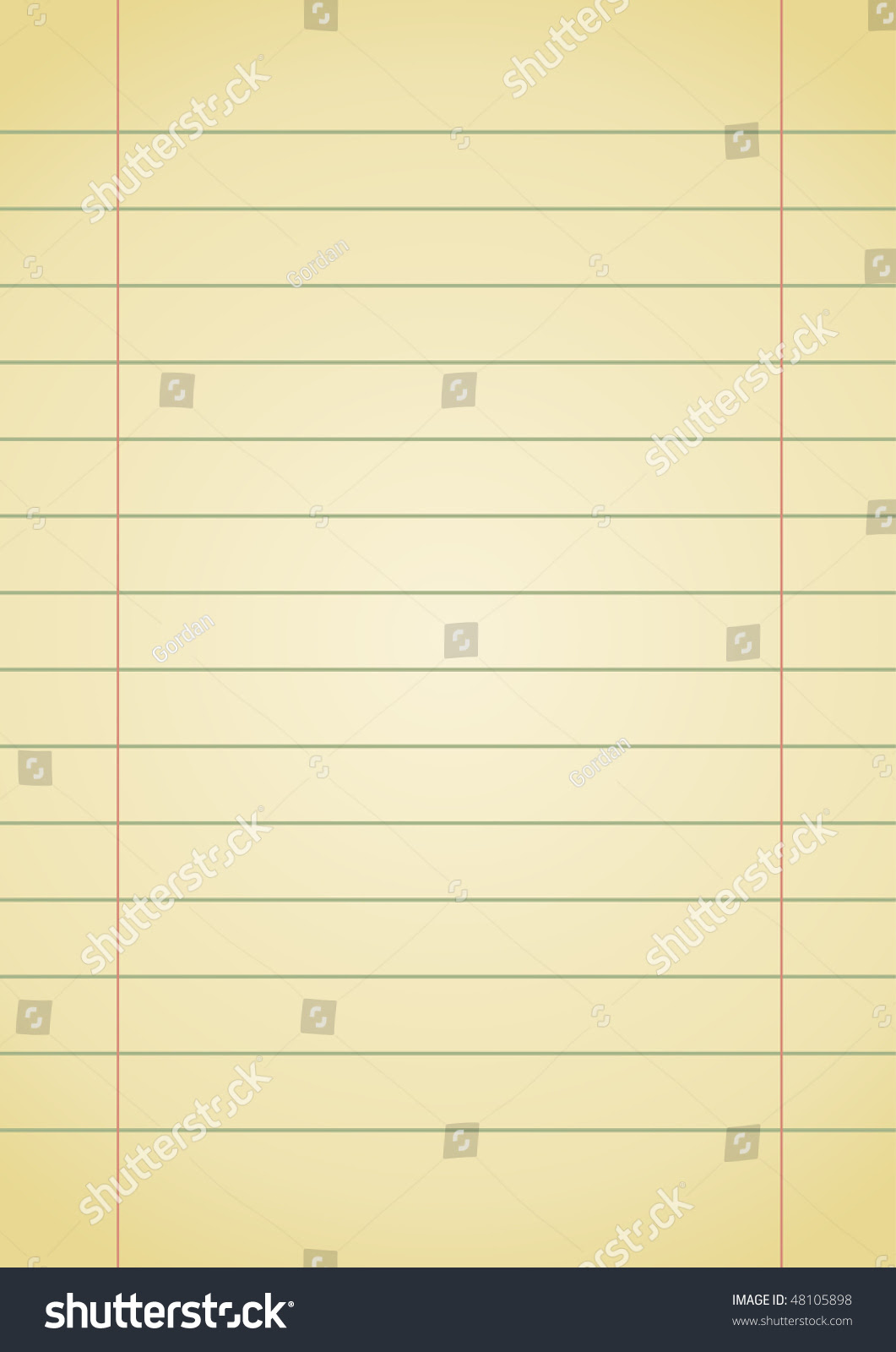 Editable Vector Background - Old Yellow Notebook Paper With Space ...