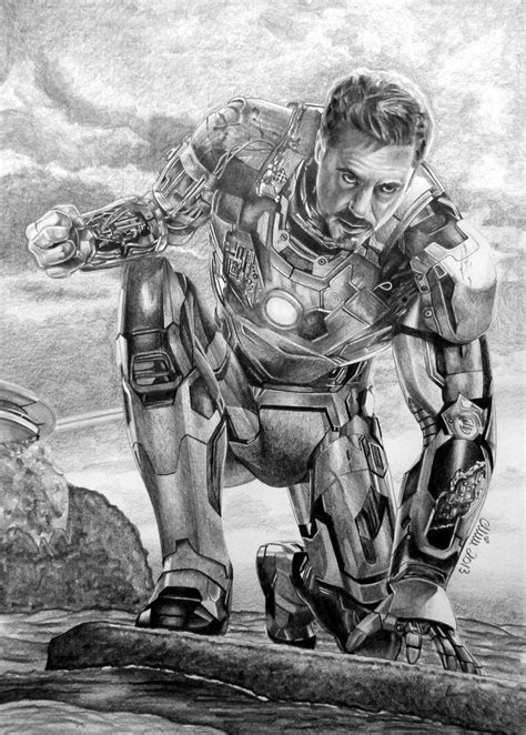 Tony Stark aka IRON MAN aka Robert Downey Jr. by Mim78 on