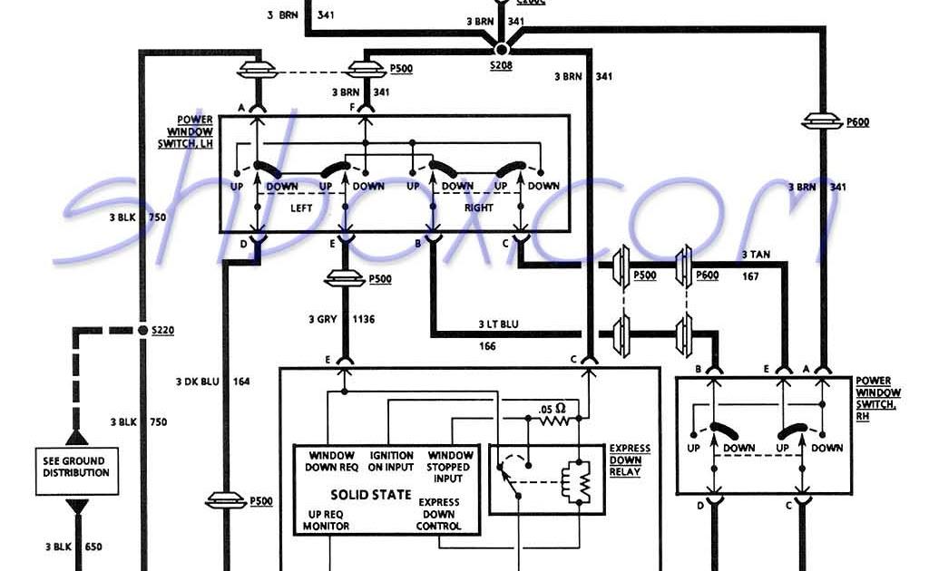 Wiring Diagram Power Window Switch