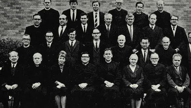 Christian Brother Maurice Howard (second row from bottom, far left) was a teacher at St K