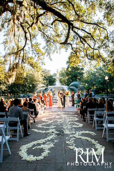 Forsyth Park Ceremony and The Westin Savannah Wedding by