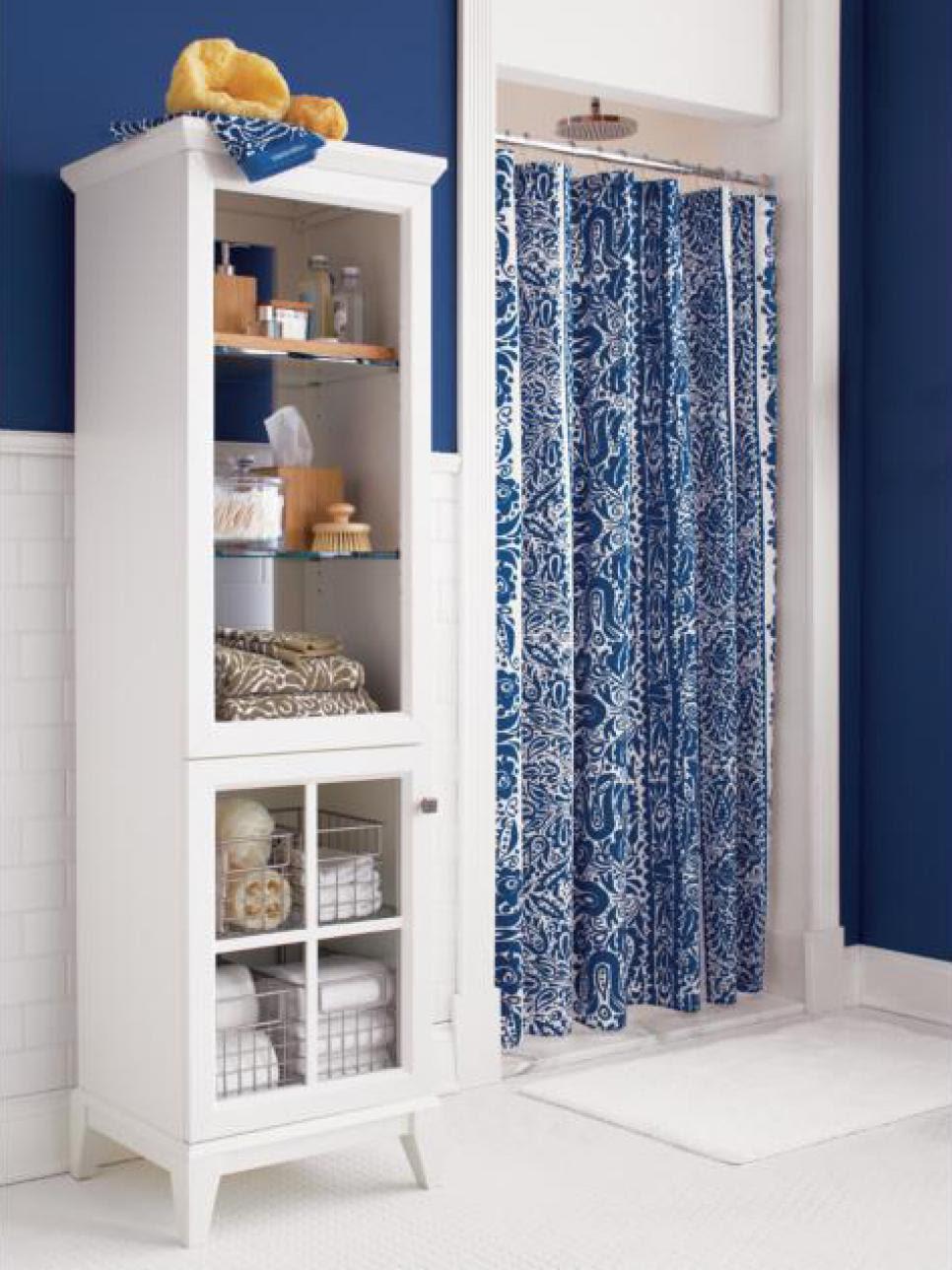 Shower Curtain Blues   HGTV
