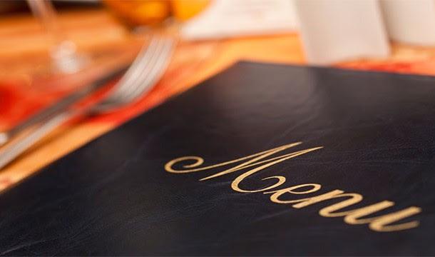 قوائم الطعام في المطاعم