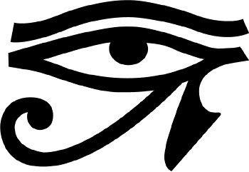 Egyptian Eye In Circle Tattoo Design