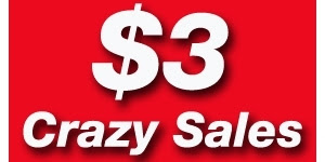 $3 Crazy Sales