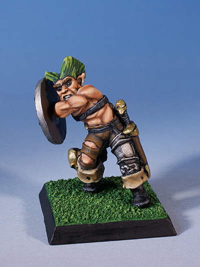 Citadel Miniatures chaos thug with club and shield