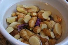 potatoes under water