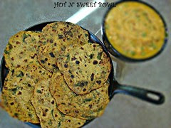 Mustard greens Roti With Gobi Mattar