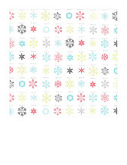 7x7 inch sq JPG snowflake snow crystals LARGE SCALE distress paper