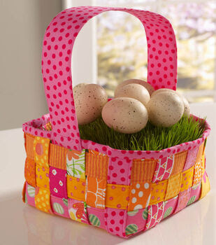 How To Sew A Woven Easter Basket