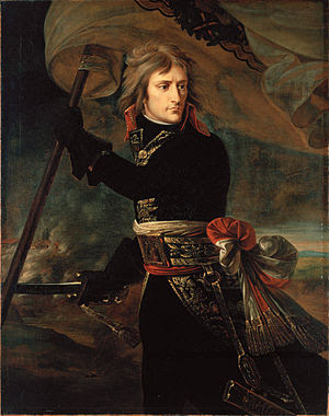 Napoleon Bonaparte on the Bridge at Arcole