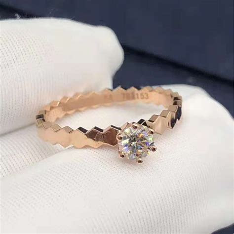 Inspired 18k Pink Gold Chaumet Bee My Love solitaire