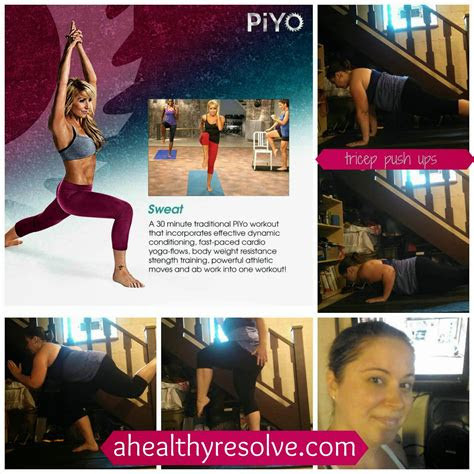 piyo week  workouts meal plan  healthy resolve