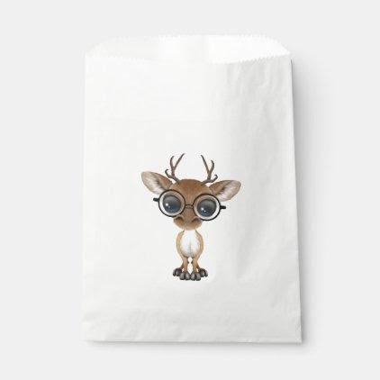 Nerdy Baby Deer Wearing Glasses Favor Bag