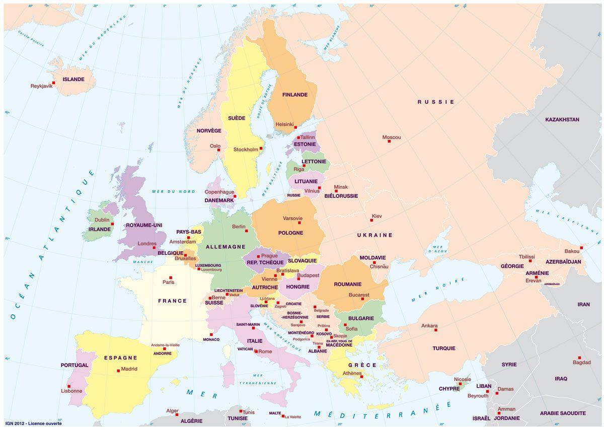 Cartes De Leurope Et Informations Sur Le Continent Européen