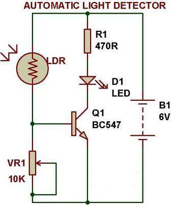 220v Dark Sensor Lamp Circuit - Circuit Diagram Images