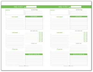 Daily Planner Printables {Personal Planner}